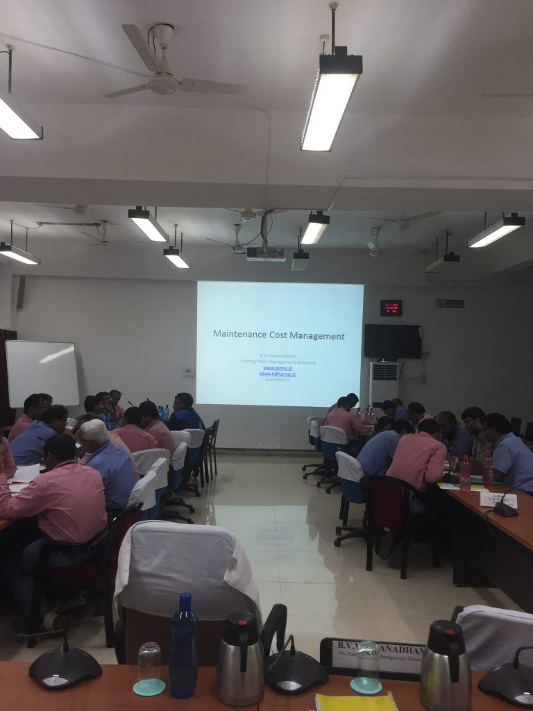 Workshop on Maintenance Cost Control