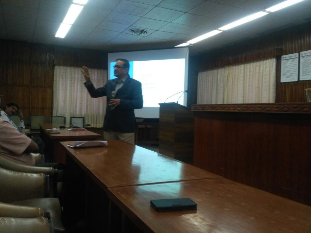 Lecturing at Visakhapatnam Steel Plant